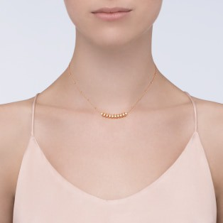 Clash de Cartier necklace Diamonds Pink gold, diamonds