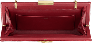 Panthère de Cartier clutch bag Red crocodile leather, gold finish
