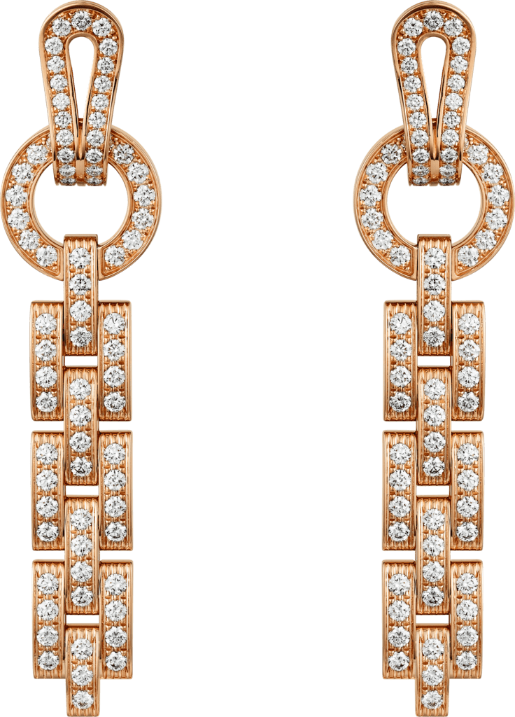 Agrafe earringsPink gold, diamonds