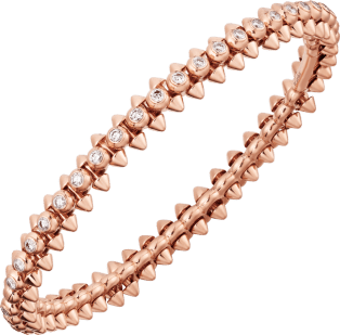 Clash de Cartier bracelet Diamonds Pink gold, diamonds