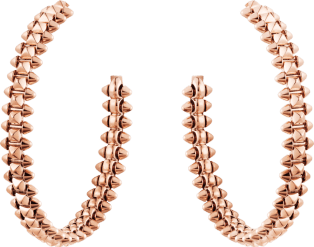 Clash de Cartier hoop earrings Small Model Pink gold