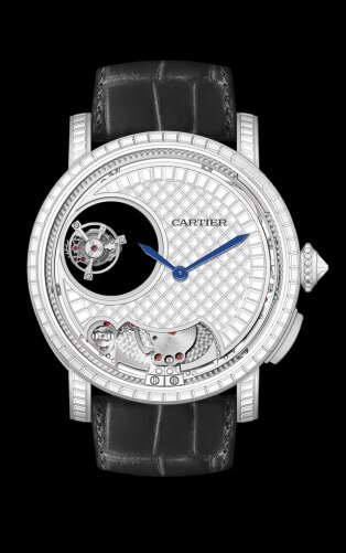 Rotonde de Cartier Minute Repeater Mysterious Double Tourbillon watch 45 mm, manual, platinum, diamonds