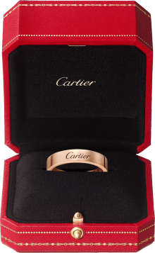 C de Cartier wedding band Pink gold