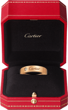 C de Cartier wedding band Pink gold, diamond