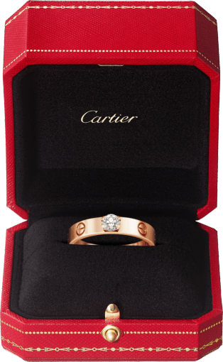 Love Solitaire Pink gold, diamond