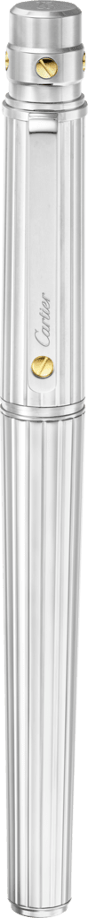 Santos de Cartier rollerball pen Large model, engraved metal, palladium and gold finishes