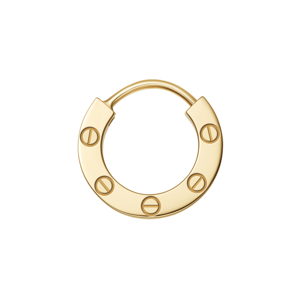 Love single earringYellow gold