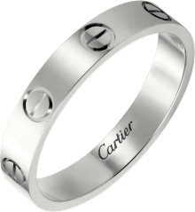 Love wedding band Platinum