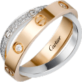<span class='lovefont'>A </span> ring, diamond-paved Pink gold, white gold, diamonds