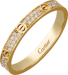 Love ring, SM Yellow gold, diamonds