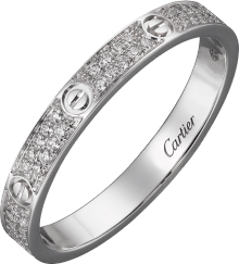 Love ring, SM White gold, diamonds
