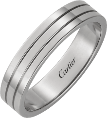 Trinity wedding band White gold