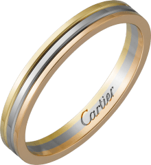 Trinity wedding band White gold, pink gold, yellow gold