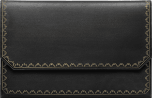 Rectangular Clutch, Guirlande de Cartier Black calfskin