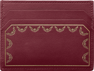 Simple Card Holder, Guirlande de Cartier burgundy calfskin, golden finish