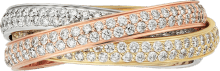 Trinity ring, small model White gold, yellow gold, rose gold, diamonds