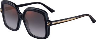Panthère de Cartier sunglasses Black composite, graduated gray lenses with golden flash