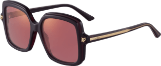 Panthère de Cartier sunglasses Burgundy composite and burgundy lenses with pink flash
