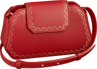 Guirlande de Cartier bag Red calfskin, golden finish