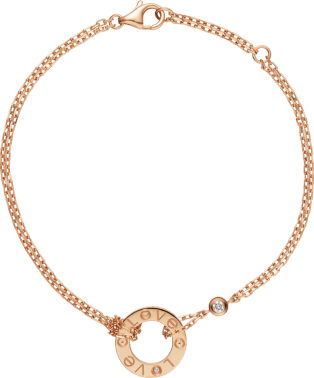 Love bracelet Pink gold, diamonds