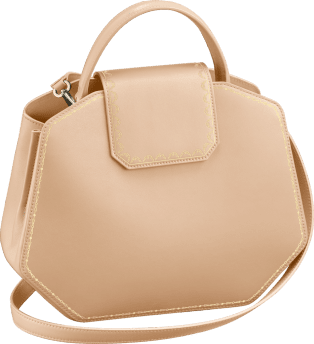 Guirlande de Cartier bag, small model Powdered beige calfskin, golden finish
