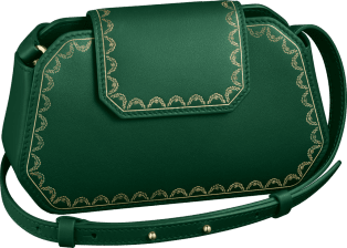 Nano Bag, Guirlande de Cartier Green calfskin, golden finish