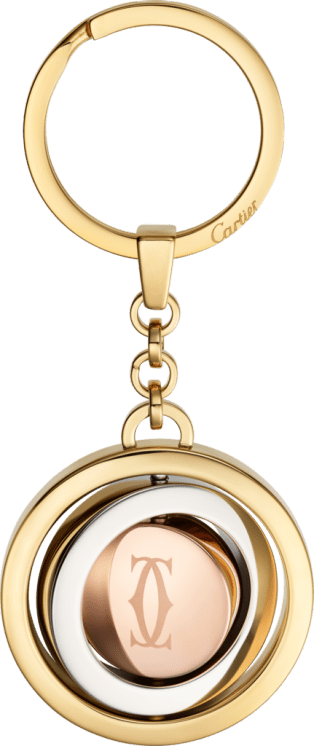 Three ring décor key ring Steel, pink-gold and yellow-gold finishes