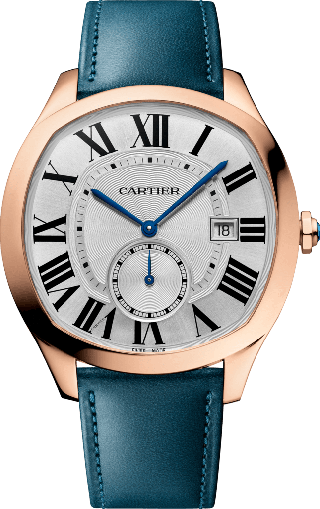 Drive de Cartier watchLarge model, automatic movement, rose gold, leather