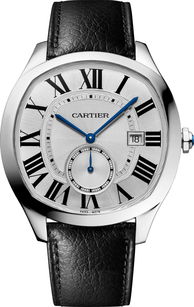 Drive de Cartier watchLarge model, automatic movement, steel, leather