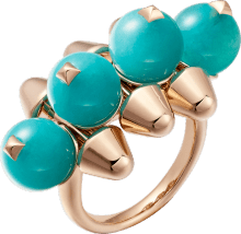 Clash de Cartier ring, XL model Pink gold, amazonite