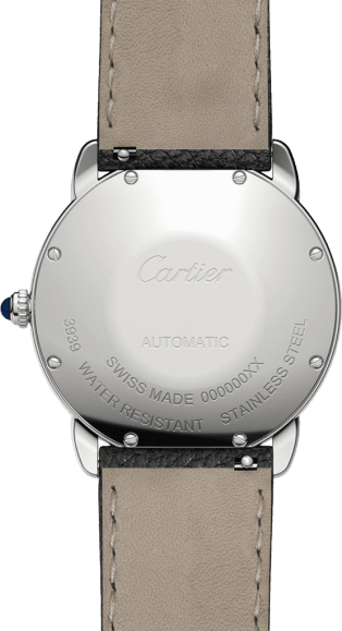 Ronde Solo de Cartier watch 36mm, steel, leather