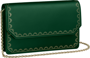 Wallet Bag, Guirlande de Cartier Green calfskin, golden finish