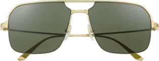 Santos de Cartier sunglasses Smooth and brushed golden-finish metal, green lenses