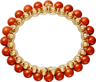 Clash de Cartier bracelet XL Model Yellow gold, coral