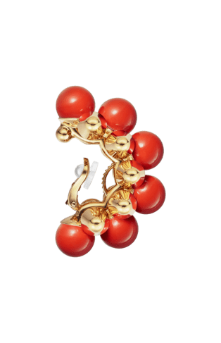 Clash de Cartier earrings XL Model Yellow gold, coral