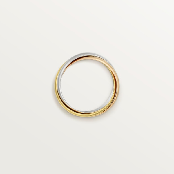 Trinity ring, classic White gold, yellow gold, rose gold