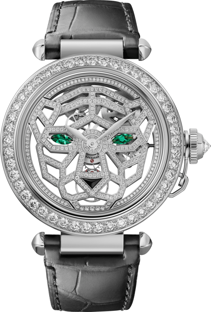 Other Panthère Jewelry Watches41 mm, hand-wound movement, 18K white gold, diamonds, interchangeable leather straps