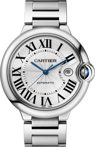 Ballon Bleu de Cartier watch 42mm, automatic movement, steel