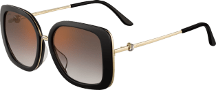 Trinity sunglasses Black composite, graduated gray lenses with golden flash