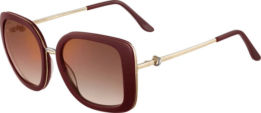 Trinity sunglassesBurgundy composite, graduated brown lenses with golden flash