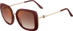Trinity sunglasses Burgundy composite, graduated brown lenses with golden flash