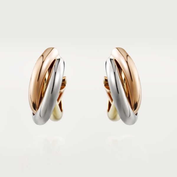 Trinity earrings White gold, yellow gold, rose gold