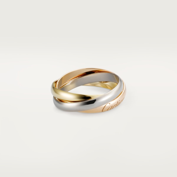 Trinity ring, small model White gold, yellow gold, pink gold