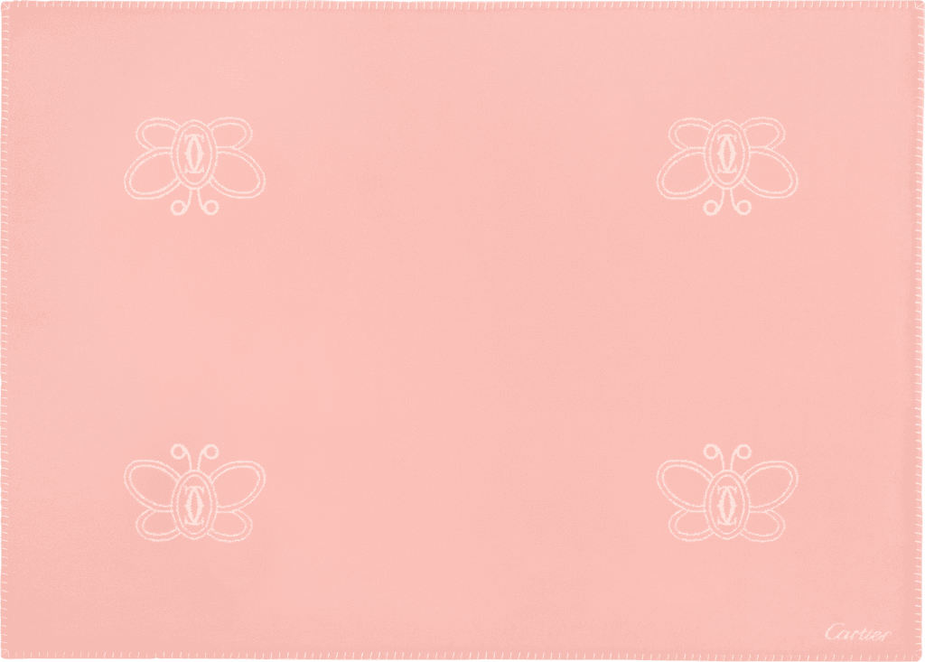 Cartier Baby butterfly blanketMerino wool and cashmere