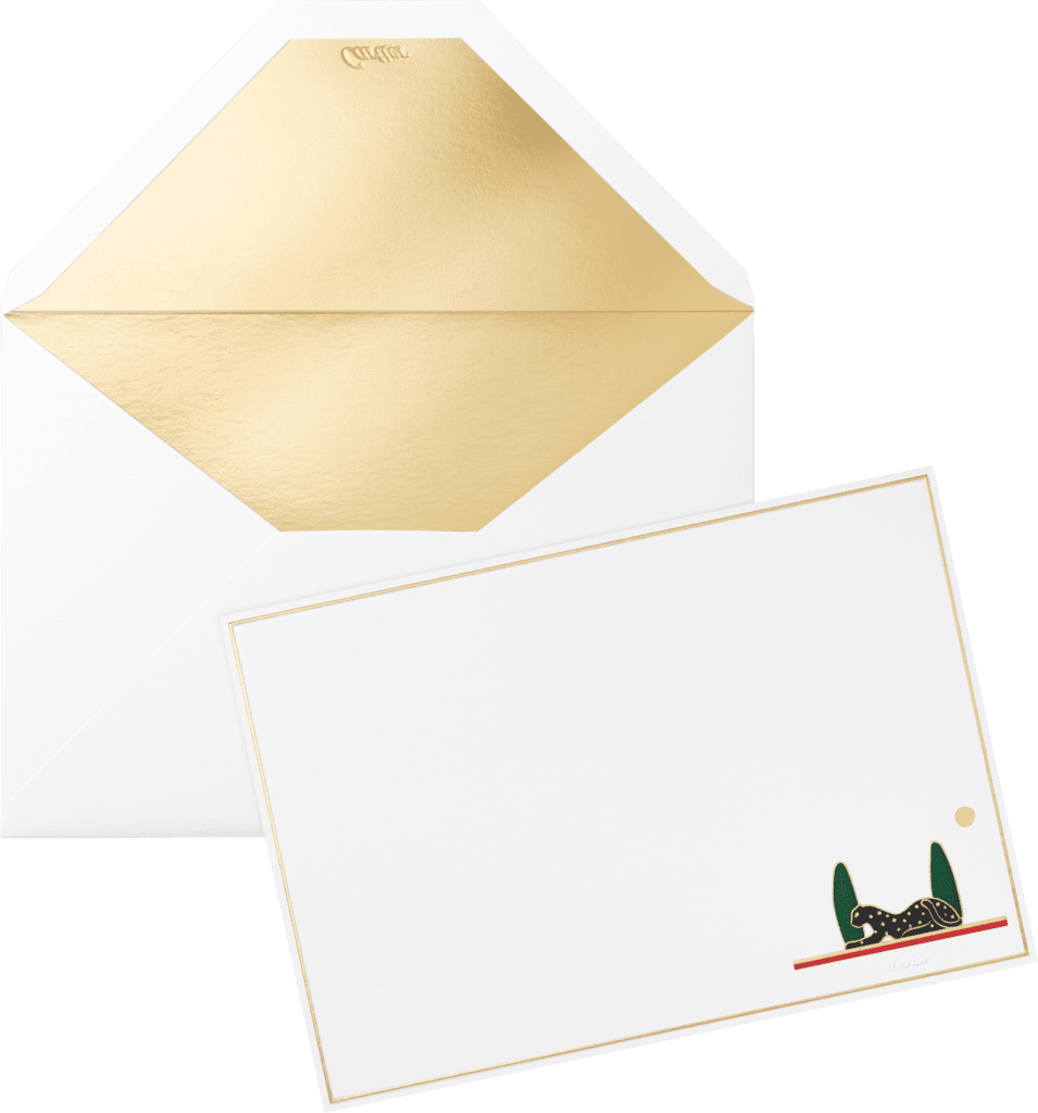 Panthère de Cartier cards and envelopesPaper sourced from sustainably managed forests