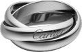 Trinity ring, classic White gold