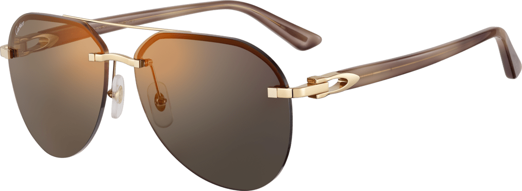 C Décor sunglassesSmooth golden-finish metal, gray lenses with golden flash