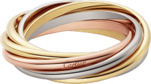 Trinity ring White gold, yellow gold, rose gold