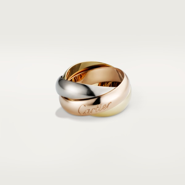 Trinity ring, LM White gold, yellow gold, rose gold