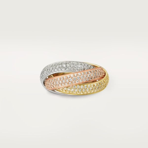 Trinity ring, LM White gold, yellow gold, rose gold, diamonds
